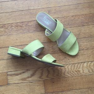 Chartreuse Franco Sarto low heel sandals size 8.5